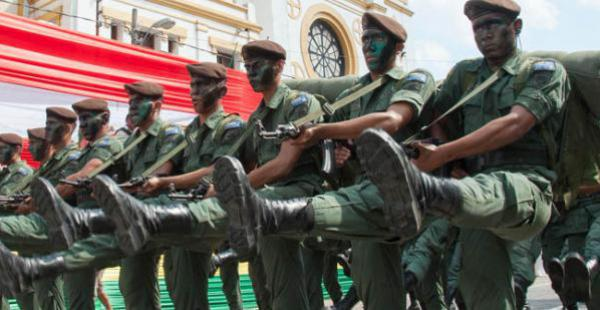 El año pasado, la parada militar se realizó en Sucre
