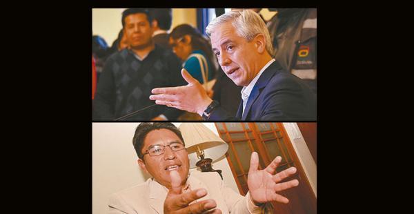 El vicepresidente pide que las gobernaciones generen. Patzi hizo huelga por más recursos