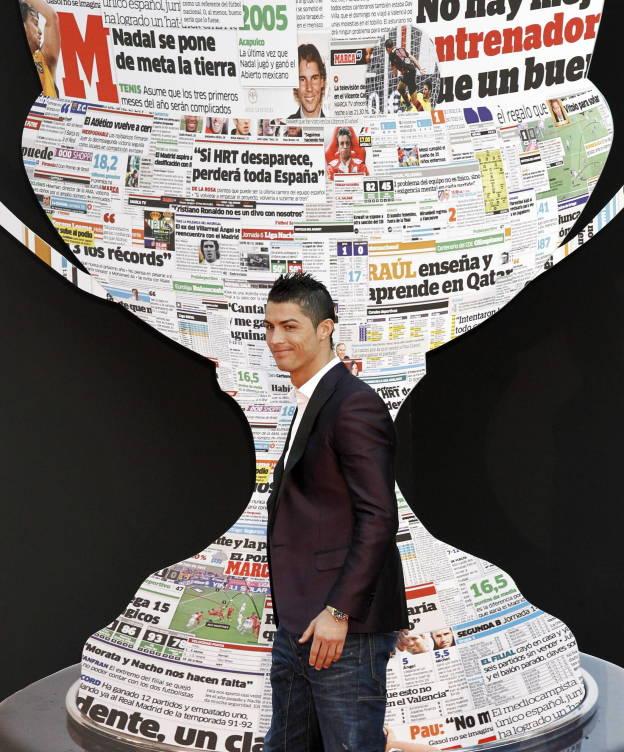 Foto: Cristiano Ronaldo, en la entrega de los premios del diario 'Marca' de 2012. (EFE)