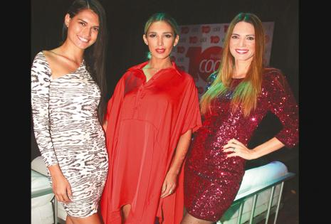 /trío de bellezas. Jimena Jiménez, Desirée Durán Y Alison Roca