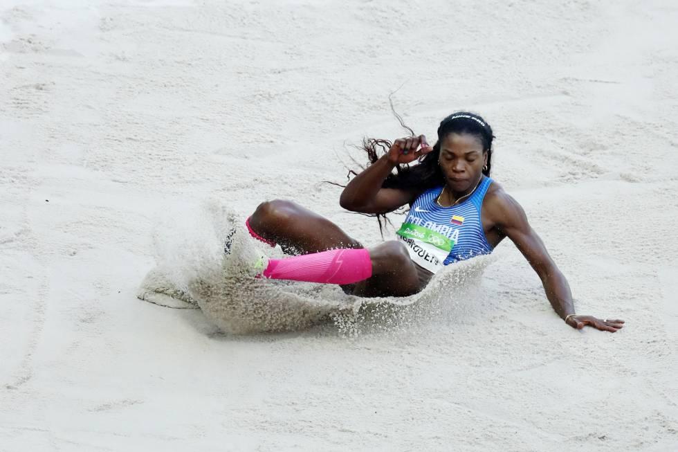 La atleta colombiana Catherine Ibargüen.