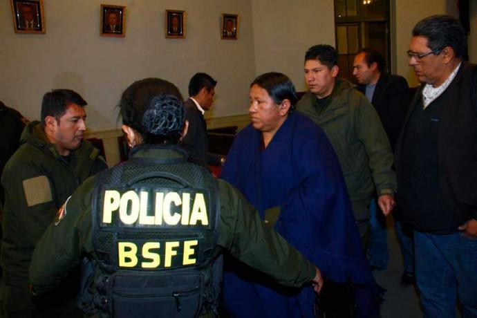 AUDIENCIA. La justicia determinó el viernes la detención preventiva de la ex Ministra.