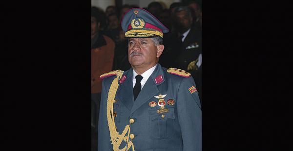 El viceministro de Defensa, Luis Aramayo, es general retirado de las Fuerzas Armadas