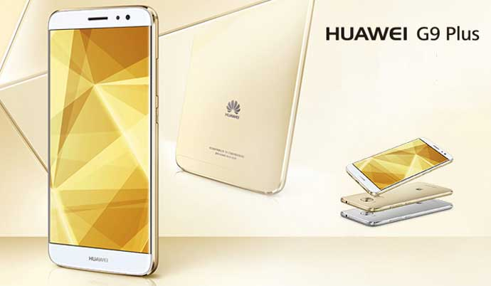 Huawei G9 Plus color dorado