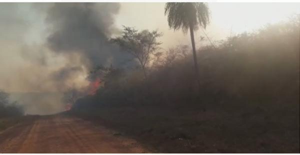 El incendió se ha reportado muy cerca de San José de Chiquitos