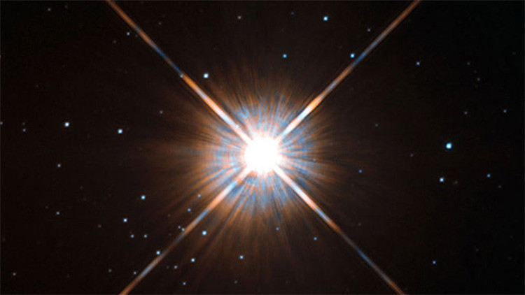Imagen de la enana roja Proxima Centauri captada por el telescopio espacial Hubble