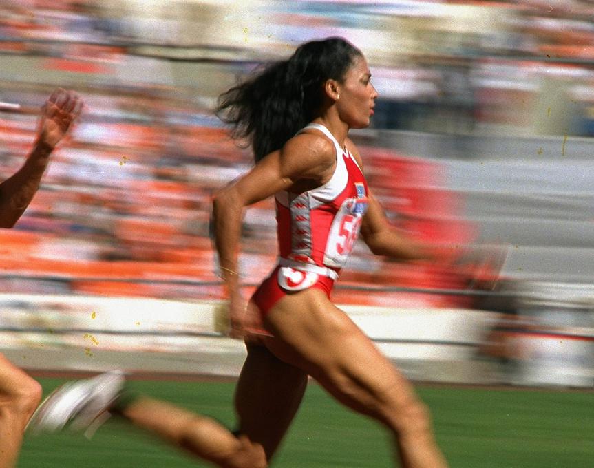 Florence Griffith, en las semifinales de 200 m de los Juegos Olímpicos de Seúl.