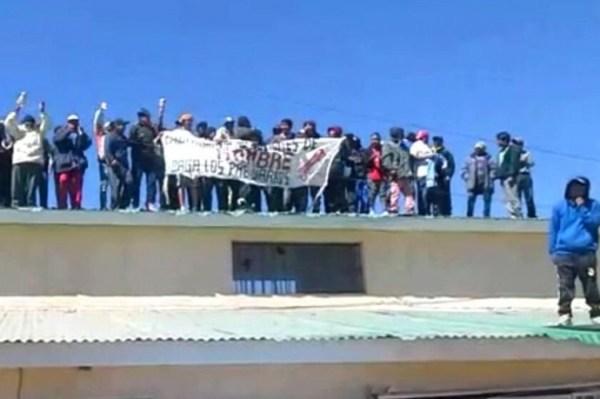 La protesta de los presos de Cantumarca. Foto: El Potosí