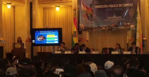Durante esta jornada la presidenta de la Cámara Baja presenta su rendición pública de cuentas.