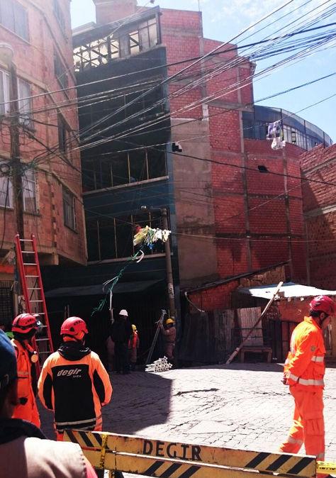La Casa Azul que se quemó el viernes 19 de agosto cerca a la feria de la Huyustus, en La Paz.