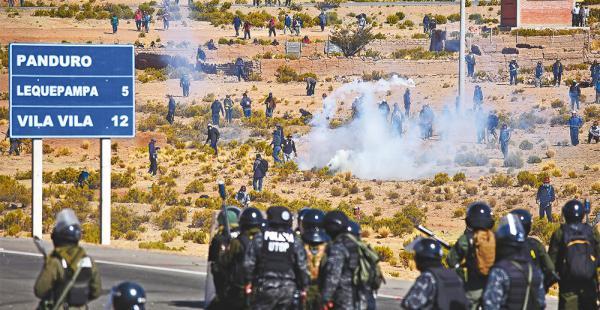 La Policía detuvo a 110 personas, incluyendo a los dirigentes de los cooperativistas mineros movilizados