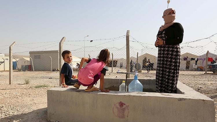 Mujeres yazidíes en el campo de refugiados Sharya en el norte de Irak