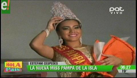 Miss Pampa de la Isla 2016 es Estefani Céspedes