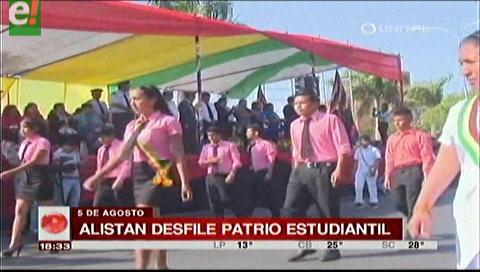 Alistan desfile patrio estudiantil