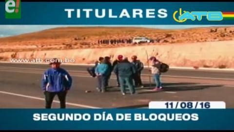 Titulares de TV: Cooperativistas mineros bloquean en 5 departamentos del país