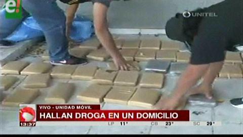 Hallan 56 paquetes de marihuana y detienen a una persona