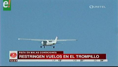 Restringen vuelos en el aeropuerto El Trompillo