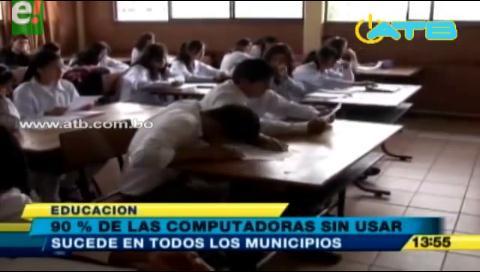 Más del 90% de computadoras donadas por el Gobierno a estudiantes no son usadas