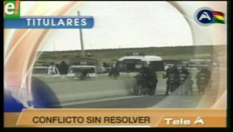 Titulares de TV: Mineros cooperativistas anuncian nuevas movilizaciones escalonadas