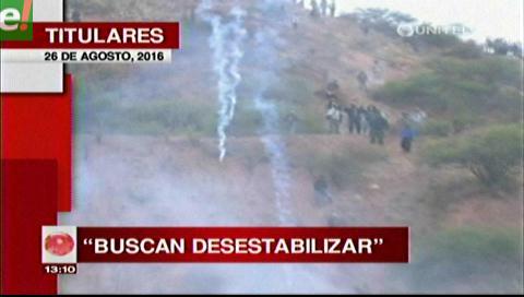 Titulares de TV: El MAS denuncia que EEUU está detrás de las movilizaciones de los cooperativistas mineros