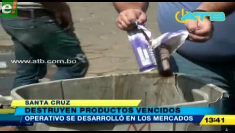 Destruyen  productos vencidos en los mercados