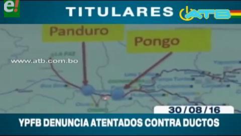 Titulares de TV: YPFB denuncia a cooperativistas mineros por atentados contra ductos de gas
