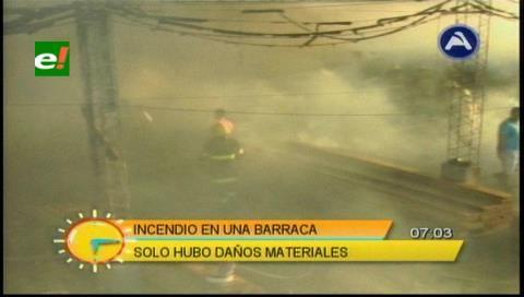 Sofocan incendio en una barraca