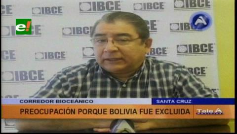Hay preocupación en el IBCE por la exclusión de Bolivia del Corredor Bioceánico