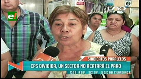 CPS dividida: Un sector no acatará el paro de 72 horas