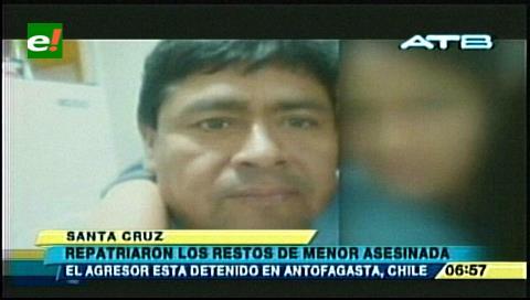 Repatriaron el cuerpo de la niña asesinada por su padrastro en Antofagasta