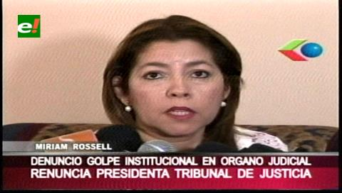 Miriam Rossel denuncia golpe institucional de los vocales de justicia
