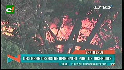 Declaran zona de desastre ambiental en la Chiquitania