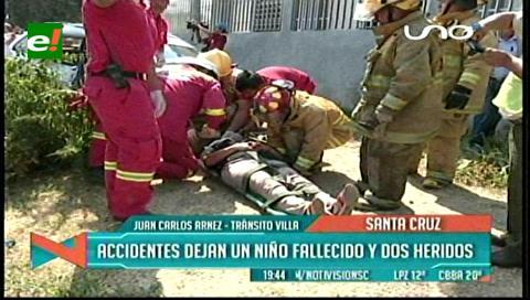 Graves accidentes dejan un niño muerto y dos heridos