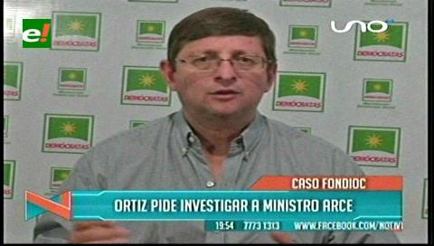 """Ortiz: """"El ministro Arce debe ser incluido en el proceso por el Fondo Indígena"""""""
