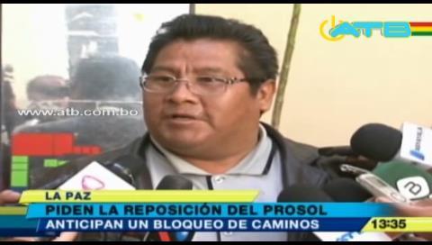 Campesinos de Tarija anuncian bloqueo de caminos