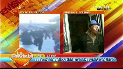 La Paz: Llegan policías heridos desde Mantecani y denuncian torturas
