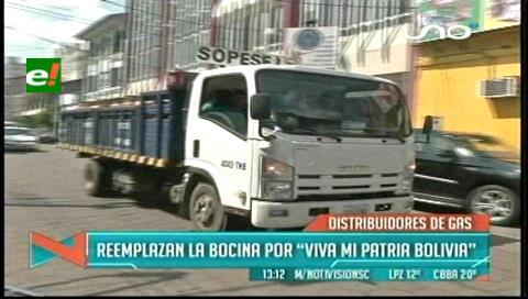 """Camiones de gas tocarán """"Viva mi patria Bolivia"""""""