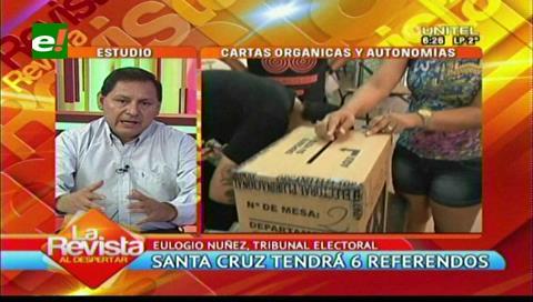 Santa Cruz: Se celebrarán seis referendos en el plazo de un año
