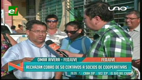 Fejuve llama a marchar en rechazo al cobro de 0,50 ctvs a socios de cooperativas
