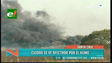 Santa Cruz: Se eleva la contaminación del aire por la intensa humareda
