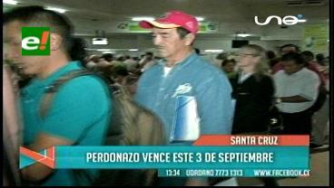 """Santa Cruz: SER extiende horario de atención por """"perdonazo"""""""
