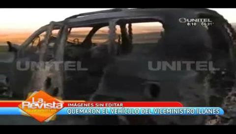 La Paz: Encuentran calcinado el vehículo del viceministro Rodolfo Illanes