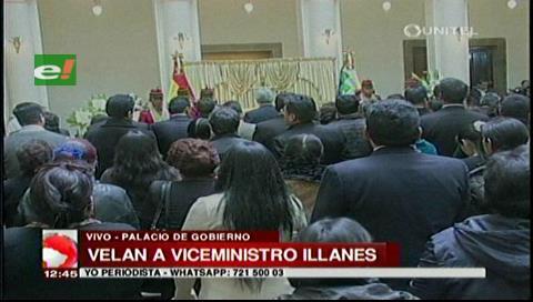 Velan el cuerpo del viceministro Illanes en Palacio de Gobierno