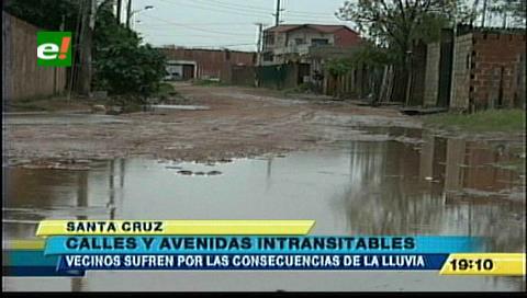 Lluvias dificultaron la transitabilidad en Santa Cruz