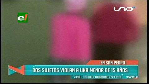 San Pedro: Dos sujetos abusan a una adolescente de 15 años