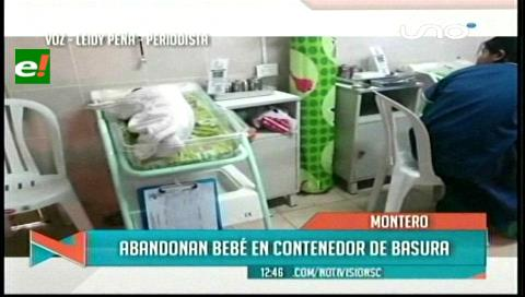 Hallan viva a una recién nacida entre la basura