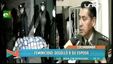 Mujer muere degollada por su esposo en Cochabamba