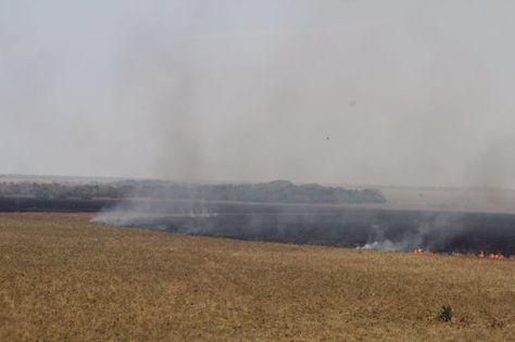 El incendio en la Reserva Natural Paraba Barba Azul. Foto: Reserva