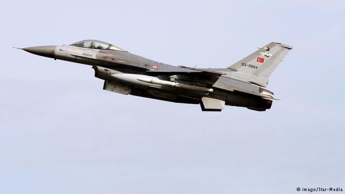 Türkei F-16 Kampfjet bei Militärmanöver in Lechfeld