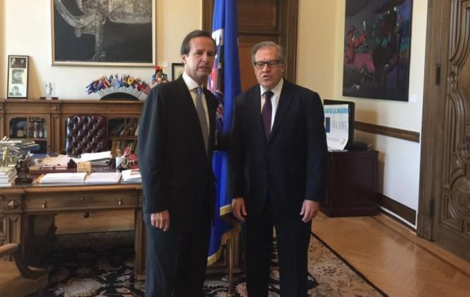 Quiroga se reúne con Almagro en ocasión del aniversario de la Carta Democrática